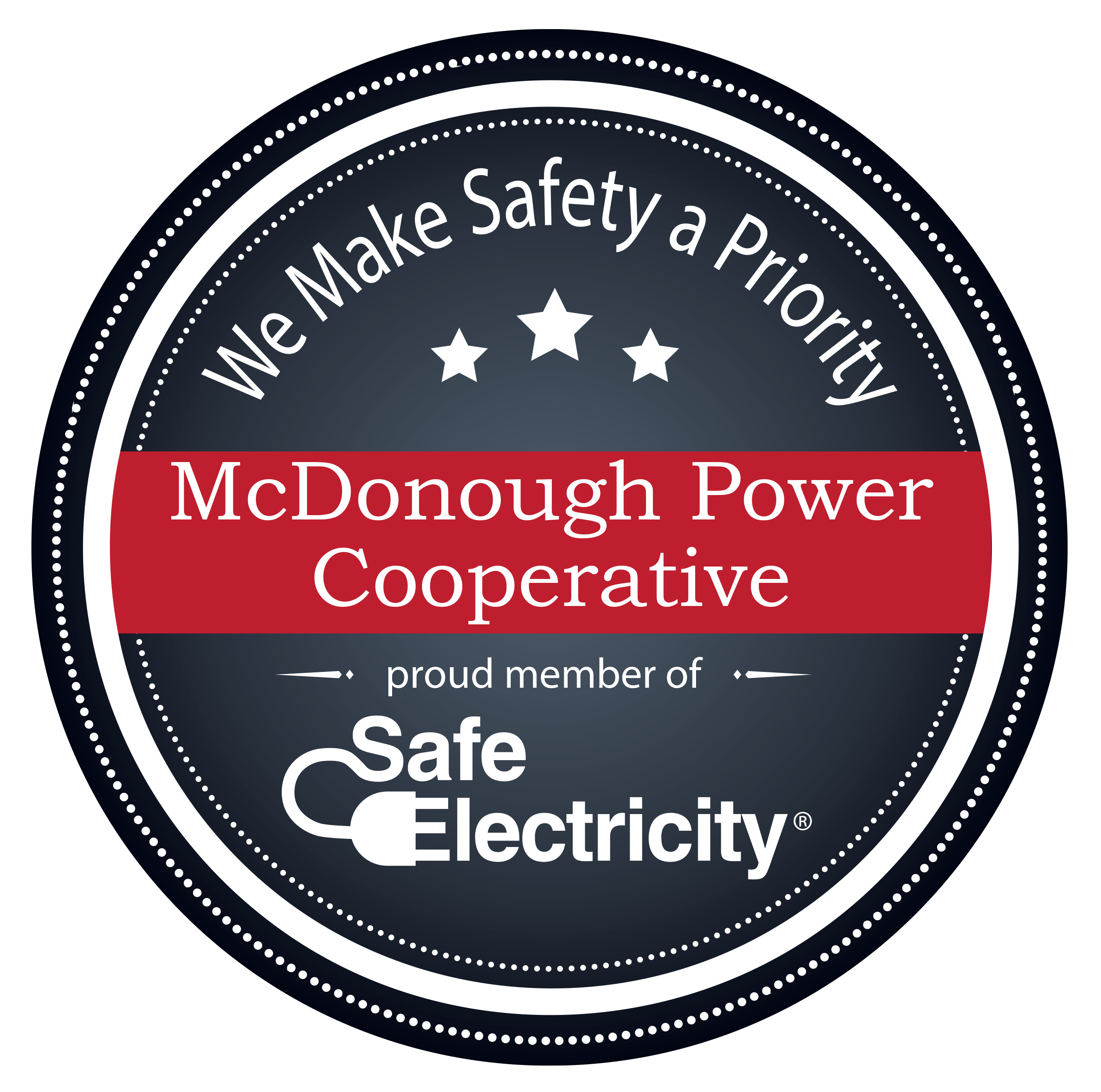 McDonough Power Cooperative - Proud SE Member Badge